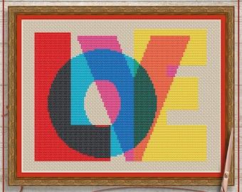 Love cross stitch pattern PDF