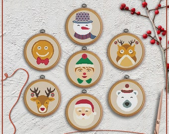 Christmas cross stitch patterns bundle, set of 7 by Stitchery Stitch