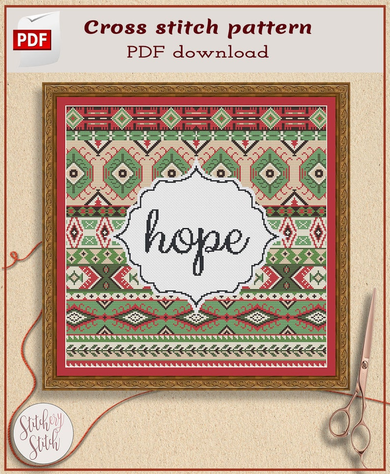 Customizable cross stitch pattern Choose words image 0