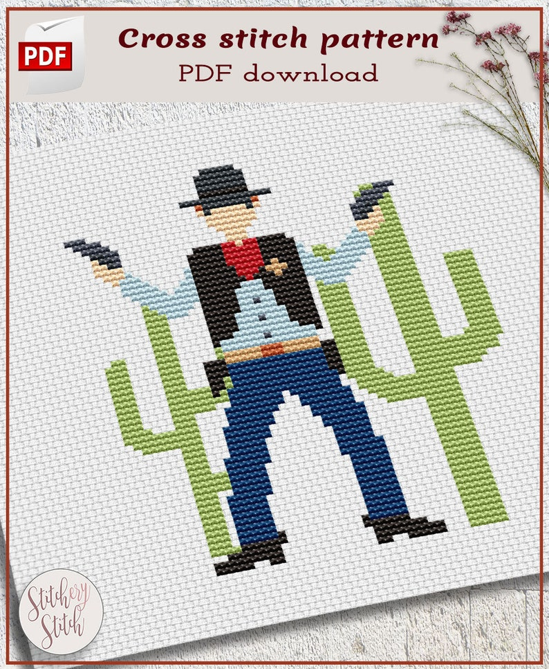 western cowboy cross stich patterns