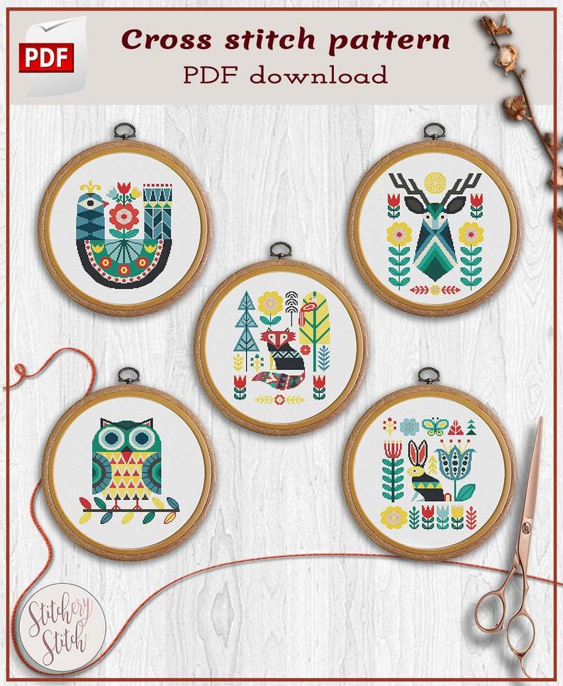 Scandinavian cross stitch patterns  Cross stitch patterns image 0