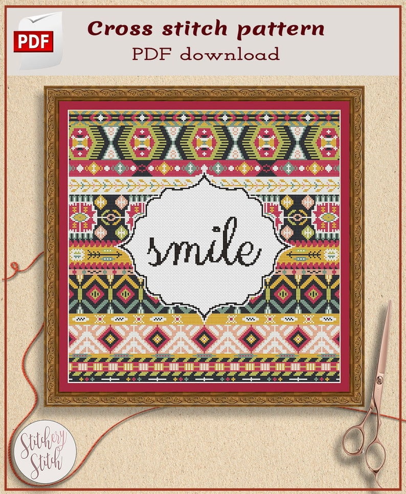 Customized Cross Stitch Pattern Choose words image 0