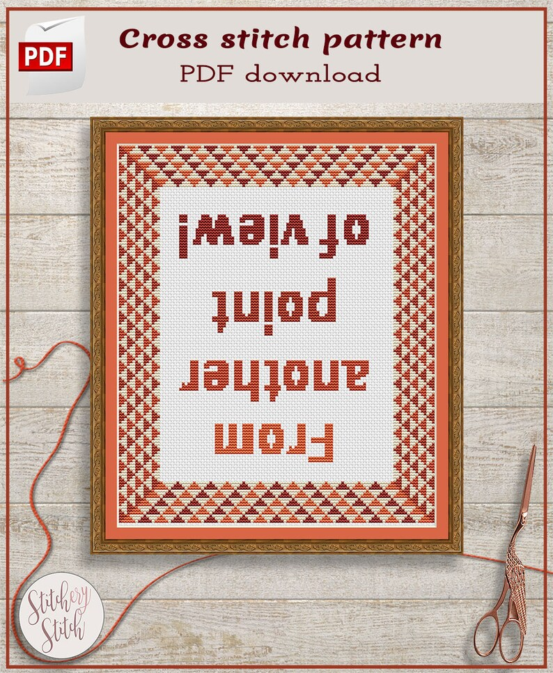 Motivational cross stitch pattern PDF image 0