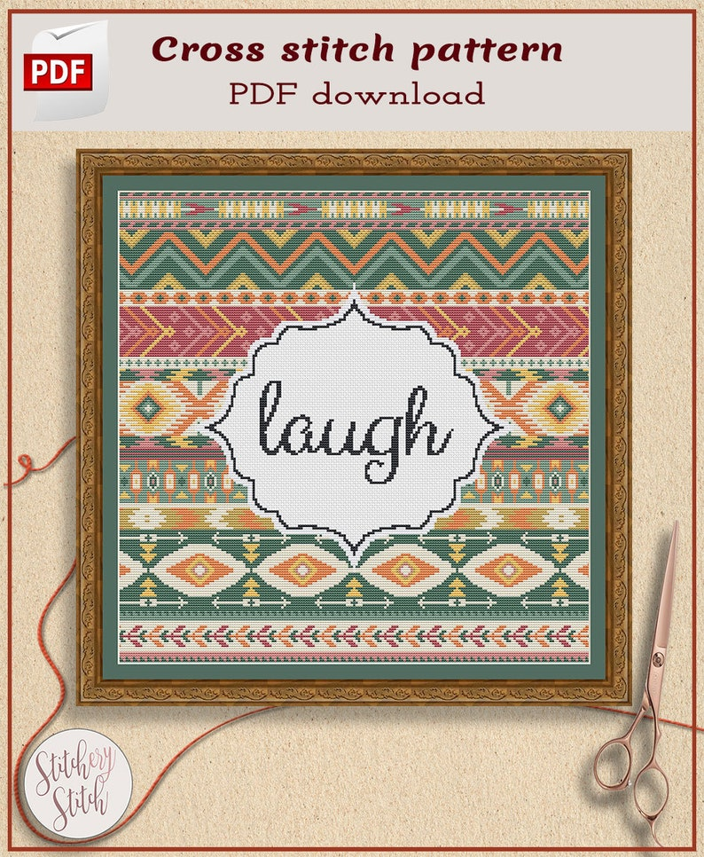 Custom cross stitch pattern Custom words image 0