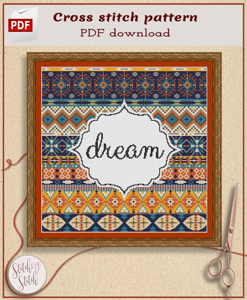 Cross stitch pattern custom words image 0