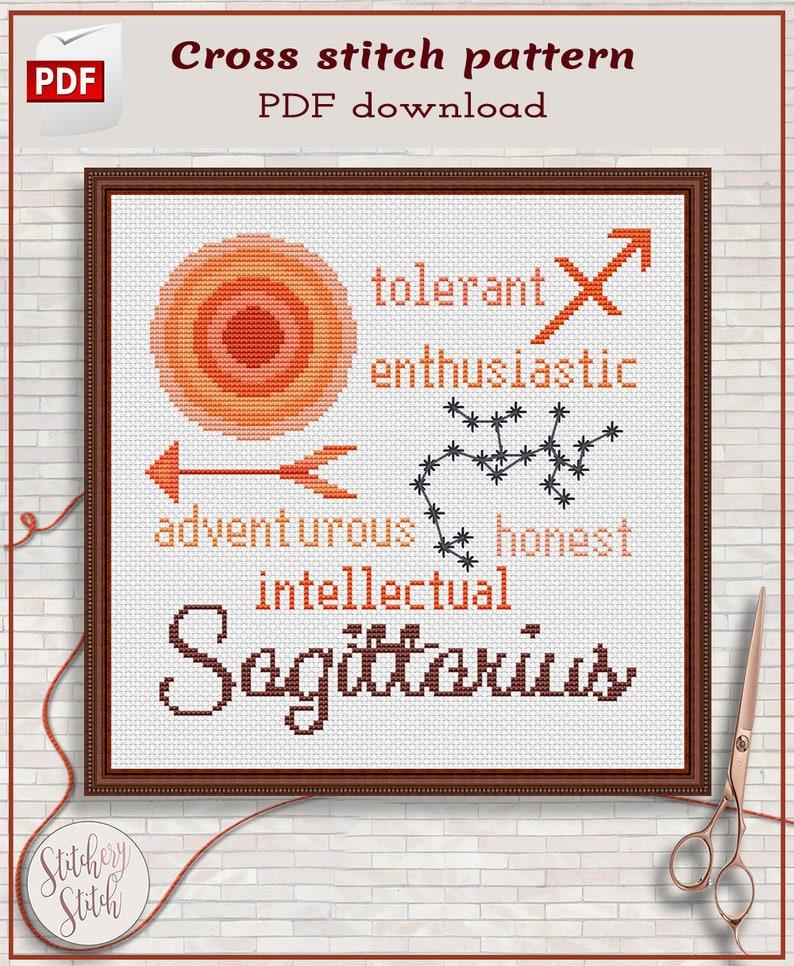 Sagittarius cross stitch pattern by Stitchery Stitch  4 image 0