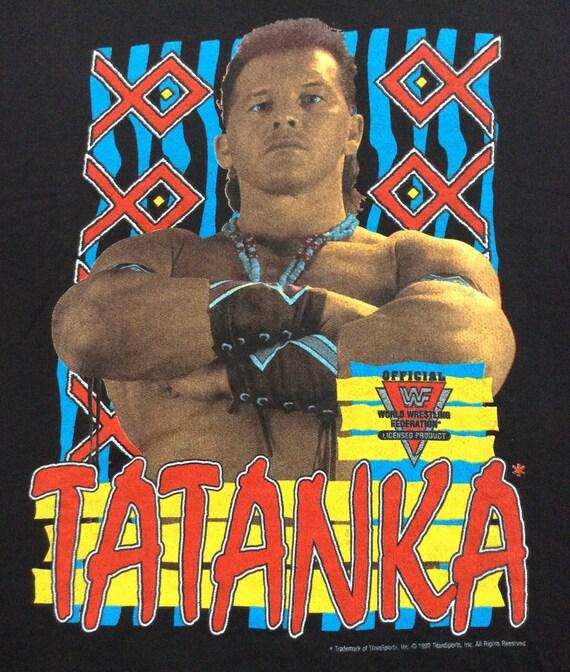 SPORTS Sweatshirt TITAN Licensed Vintage Official F 1992 Wrestling TATANKA W W TqPSC