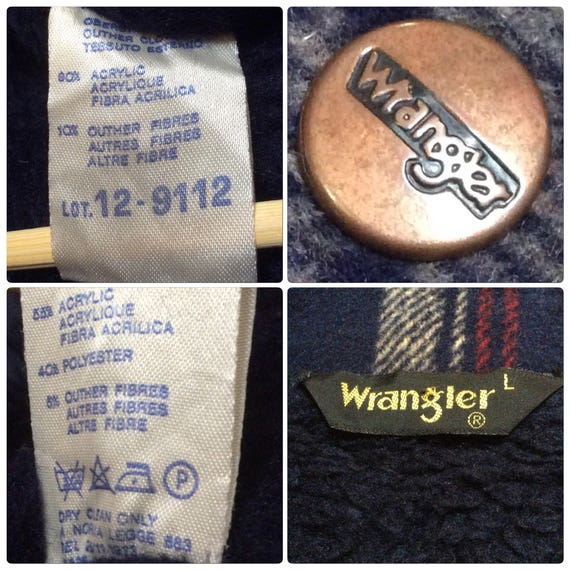 in FLANELL Made Vintage 1973 Italy WRANGLER JEANS Jacket xFgwxUaH