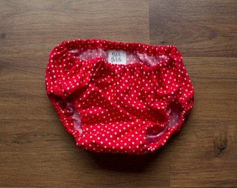 Red Polka Dot Diaper Cover