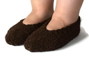 dark brown slipper, indoor clothing, crochet shoes, crochet slippers, simple slippers, casual slipper, house women shoes, spring shoe