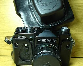 Zenit TTL Helious 44M-4 Working Vintage Soviet Camera