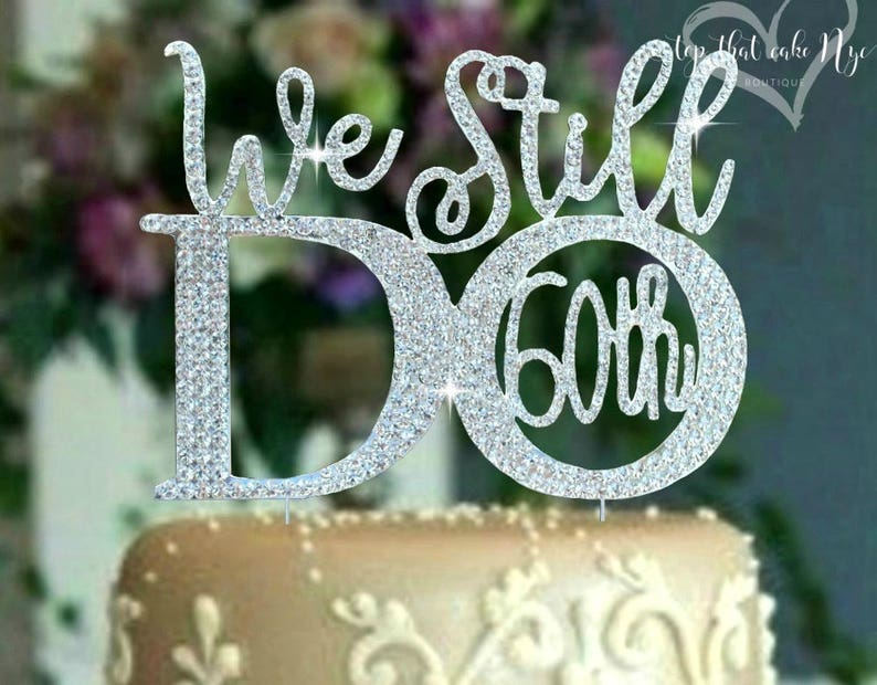 60th Or 50th Anniversary Party Wedding Cake Topper Set C We Etsy