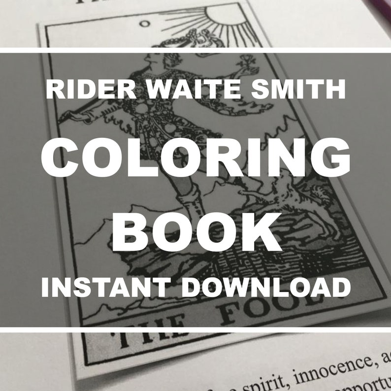 Tarot Coloring Book Printable Tarot Coloring Book with image 0