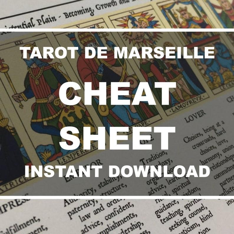 Tarot Cheat Sheet Printable Tarot Cheat Sheet with Meanings image 0