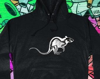 Rat Skeleton Tank Top Alternative Punk Ladies Vest Womens Skull Goth Grunge Rock Indie Streetwear Taxidermy Dark Skate Graffiti