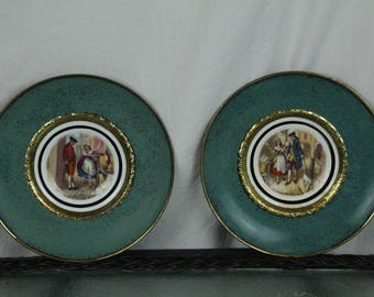 Regency Bone China 2 Plate Hanging Decorative Plates