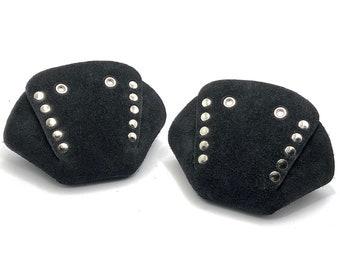 ROLLERSTUFF Black Suede Roller Skate Toe Caps / Toe Guards