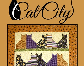 Cat City Quilting Pattern by Villa Rosa Designs - Uses Fat Quarters