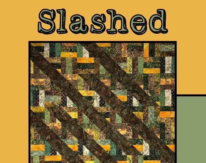 """Slashed Quilt Pattern by Molly Cook for Villa Rosa Designs - Uses 2 1/2"""" Strips"""