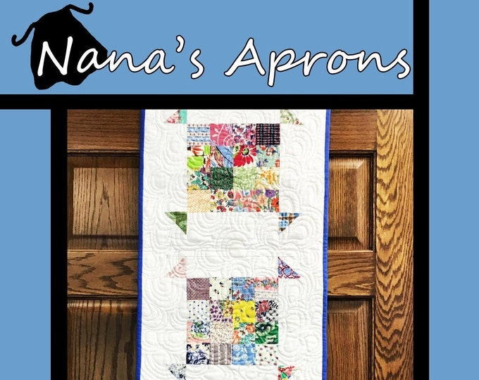 "Nana's Apron Quilt Pattern by Tricia Lynn Maloney for Villa Rosa Designs - Uses 5"" Charm Squares or  2 1/2"" Mini Charm Squares"
