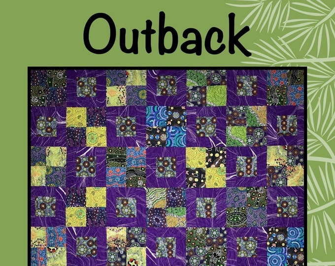 Outback Quilt Pattern by Sugar Pine for Villa Rosa Designs - Uses Fat Quarters