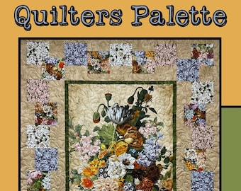 Quilters Palette Quilt Pattern by Molly Cook for Villa Rosa Designs -  Uses a Panel