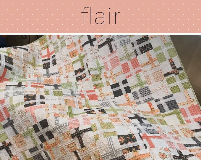 """Flair Quilt Pattern by keri g for Villa Rosa Designs - Uses 5"""" Charm Squares"""