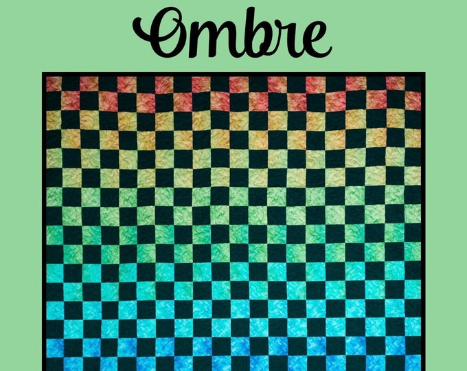 Ombre Quilt Pattern by Melissa Milligan for Villa Rosa Designs - Uses Ombre fabric