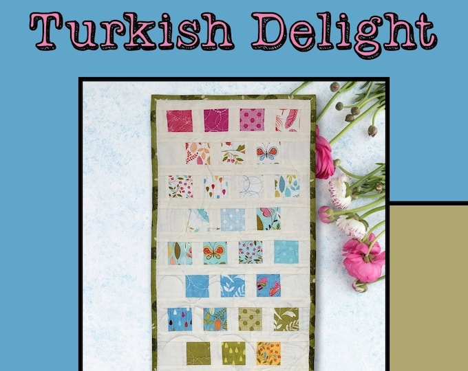 """Turkish Delight Quilt Pattern by Heidi Cook for Villa Rosa Designs - Uses 2 1/2"""" Squares"""