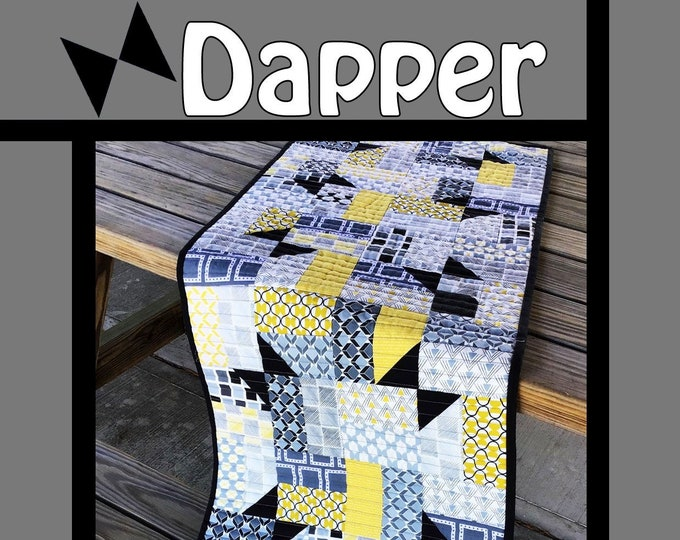 """Dapper Quilt Pattern by Tricia Lynn Maloney for Villa Rosa Designs - Uses 2 1/2"""" Strips"""