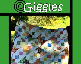"""Giggles Quilt Pattern by Tricia Lynn Maloney for Villa Rosa Designs - Uses 5"""" Charm Squares"""