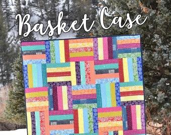 "Basket Case Quilt Pattern by Running Doe Quilt for Villa Rosa Designs - Uses 2 1/2"" Strips"
