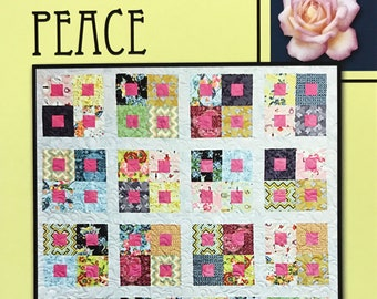 """Peace Quilt Pattern by Villa Rosa Designs - Uses 2 1/2"""" Strips"""
