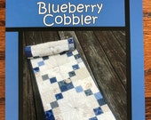 Blueberry Cobbler Quilted Table Runner Pattern