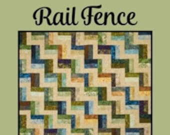 """Rail Fence Quilt Pattern by Melissa Milligan for Villa Rosa Designs - Uses 2 1/2"""" Strips"""