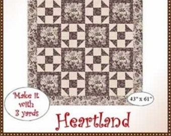 Heartland 3 Yd Quilt Pattern from Fabric Cafe