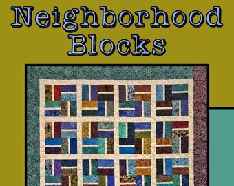 """Neighborhood Blocks Quilt Pattern by Molly Cook for Villa Rosa Designs - Uses 5"""" Squares"""