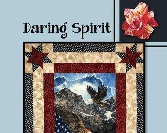 Daring Spirit Quilt Pattern by Villa Rosa Designs - Uses a Panel
