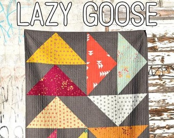 Lazy Goose Quilt Pattern from Villa Rosa Designs - Uses Fat Quarters