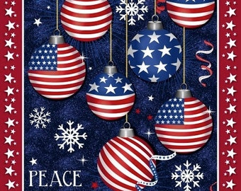 Peace Hope & Joy - Christmas USA - 51665DP - Windham - Fabric - Sold by the Panel