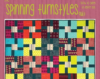 Spinning Turnstyles Quilt Pattern by Everyday Stitches