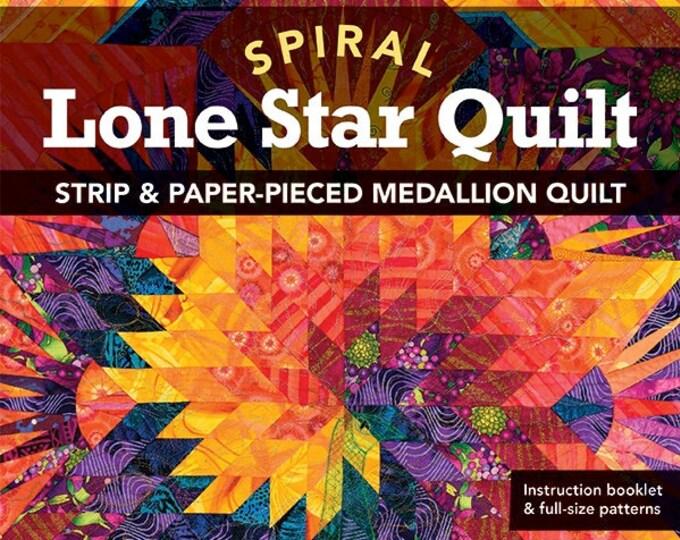 Spiral Lone Star Quilt Pattern & Booklet by Jan P. Krentz - Strip and Paper-Pieced Medalllion Quilt