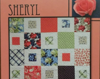 "Sheryl Quilt Pattern by Villa Rosa Designs - Uses 10"" Squares or Fat Quarters"