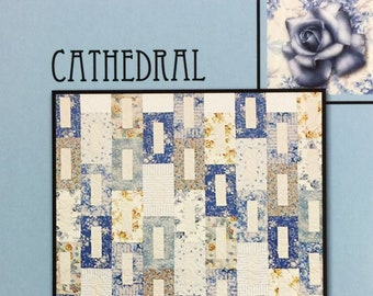"""Cathedral Quilt Pattern from Villa Rosa Designs - Uses 2 1/2"""" Strips"""