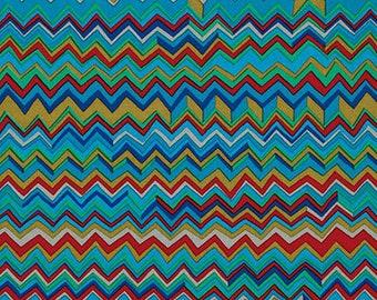 Kaffee Fassett - Zig Zag - Cool - PWBM043.COOLX - Fabric - Sold by the Half Yard