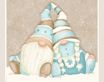 """I Love Sn'Gnomies - 24"""" Panel - Flannel - Multi - F9646P-13 - Shelly Comiskey - Henry Glass - Fabric - Sold by the Panel"""
