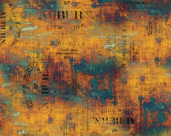 Abandoned - Urban Grunge - Patina - PWTH134.PATINA - Tim Holtz - Fabric - By the Yard, Half Yard & Fat Quarter