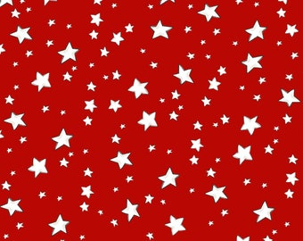 My Stars - Red - 692-396 - Loralie Designs - Fabric - BTY, HY & FQ