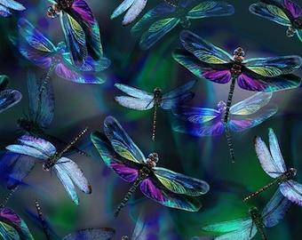 Dragonfly Dream - Spectrum Print - R4629-324 - Hoffman - Fabric - Sold by the Half Yard
