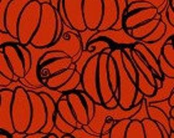 Midnight Glow Pumpkin Drawings - Orange - Y2968-37 - by Sue Zipkin - Clothworks - Fabric - BTY, HY & FQ